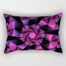 Abstract 344 a berry and black kaleidoscope Rectangular Pillow