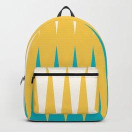 Geometrical retro colors modern print Backpack