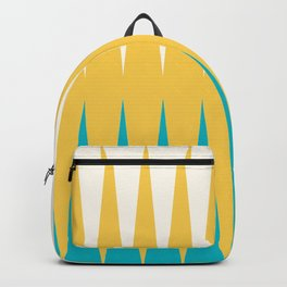 Geometrical retro colors modern print Backpack