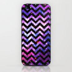 Girly Chevron Pattern Cute Pink Teal Nebula Galaxy iPhone & iPod Skin