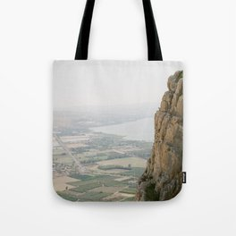 Mt. Arbel and the Sea of Galilee - Holy Land Fine Art Film Photography Tote Bag