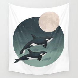 moonlight caravan // orcas Wall Tapestry