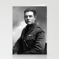 hemingway Stationery Cards featuring Ernest Hemingway in Uniform, 1918 by Limitless Design