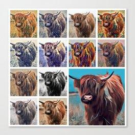 Yak Attack - Pop Art Collage Canvas Print