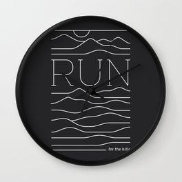 Run for the Hills Wall Clock