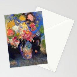 "Odilon Redon ""Flowers in a vase"" Stationery Cards"