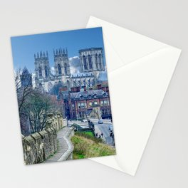York Minster and City Wall Landscape  Stationery Cards