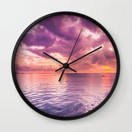 Violet Sea Wall Clock