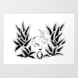 The Ugly Duckling Egg Art Print