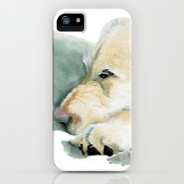 Sleepy Labradoodle Pup iPhone Case