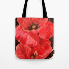 Red Poppy One Tote Bag