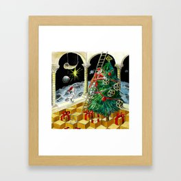 MC Escher's Christmas Tree Framed Art Print