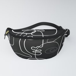 One line trendy art abstract Fanny Pack