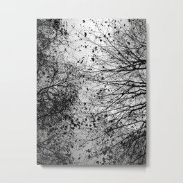 Branches & Leaves Metal Print
