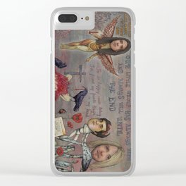 Nirvana - Light My Candles In A Daze Cause My Heart Shaped Box Is Broke Clear iPhone Case