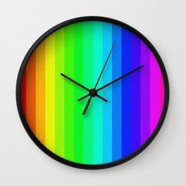 Vertical Rainbow Wall Clock