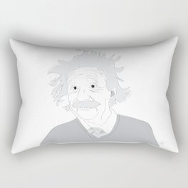 Albert Einstein Illustration Rectangular Pillow