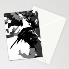 Black Gray and White Abstract Stationery Cards