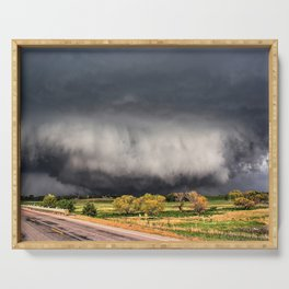 Tornado Day - Storm Touches Down in Northwest Oklahoma Serving Tray