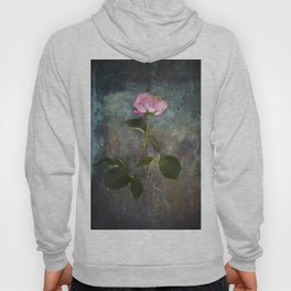 Single Wilted Rose Hoody