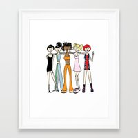 spice girls Framed Art Prints featuring The Spice Girls by flapper doodle