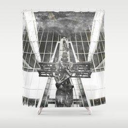 Russian aviator Shower Curtain