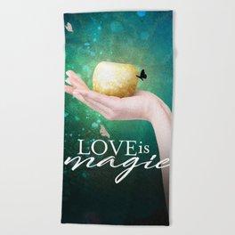 Love is Magic Beach Towel
