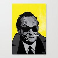 jack nicholson Canvas Prints featuring Jack Nicholson by Feezy Design Studio