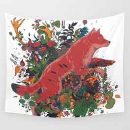 dream of red wolf Wall Tapestry