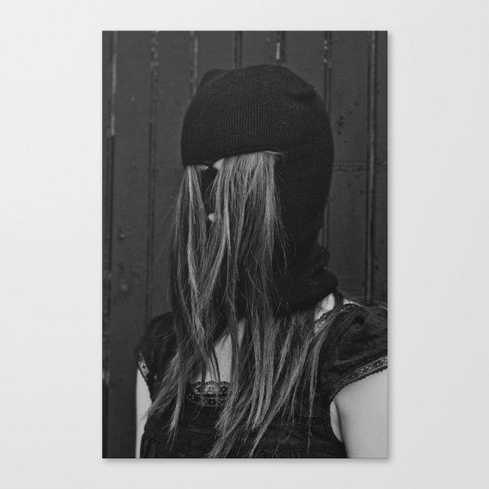 Hairy Face B&W Canvas Print