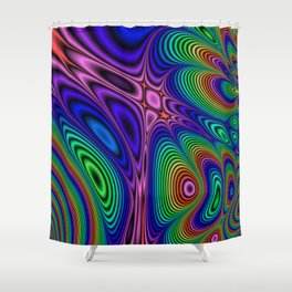 Fractal Op Art 11 Shower Curtain