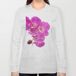 Pink orchid flowers Long Sleeve T-shirt