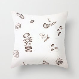 Falling Food Throw Pillow