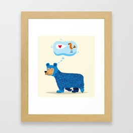 Bear Thinks Of Bird Framed Art Print