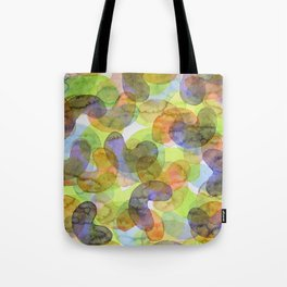 Purple Orange Green Croissants Tote Bag