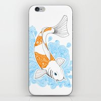 koi fish iPhone & iPod Skins featuring Koi fish  by Art & Be