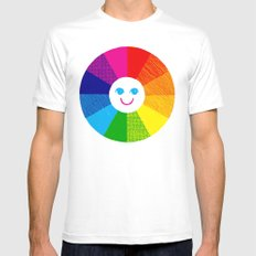 Show Your True Colors Mens Fitted Tee MEDIUM White