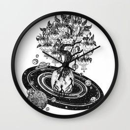 Space tree of Life Wall Clock
