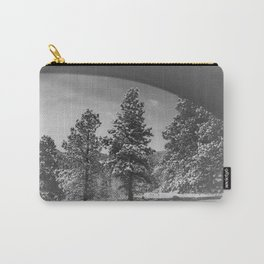 Snowy Pines Through the Explorers Window Carry-All Pouch