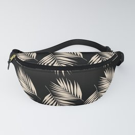 Palm Leaves Pattern #13 #Gold Touch #Black #decor #art #society6 Fanny Pack