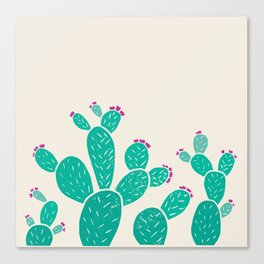 Blooming Prickly Pears Canvas Print