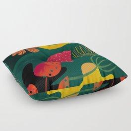 mid century shapes garden party 3 Floor Pillow