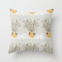 on the  marble Throw Pillow
