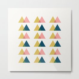 Color Theory in Gold and Pink Metal Print