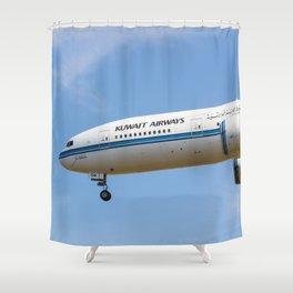 Kuwait Airlines Boeing 777 Shower Curtain