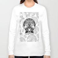 sugar skull Long Sleeve T-shirts featuring Sugar Skull.  by Digi Treats 2