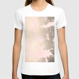 Modern Pink + Gold T-shirt