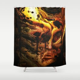 Old flame Shower Curtain