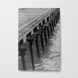 Vintage Beachport Jetty Metal Print