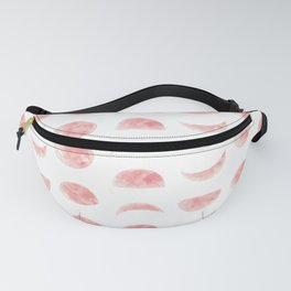 Pink Watercolour Moon Phases Fanny Pack